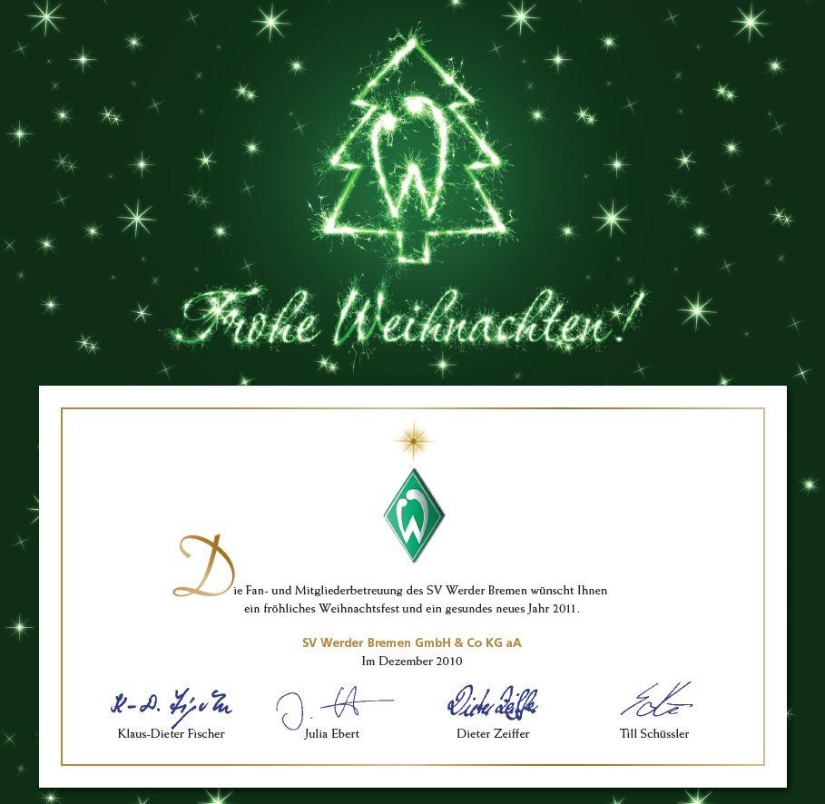 Frohe Weihnachten Werder Bremen.Werderfans Sud Thema Anzeigen Frohes Fest
